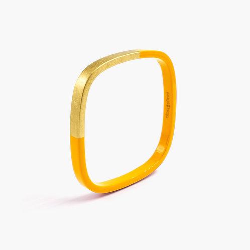 Pagil Blaja - Bracelet Trinity carré Safran / Dreamgold