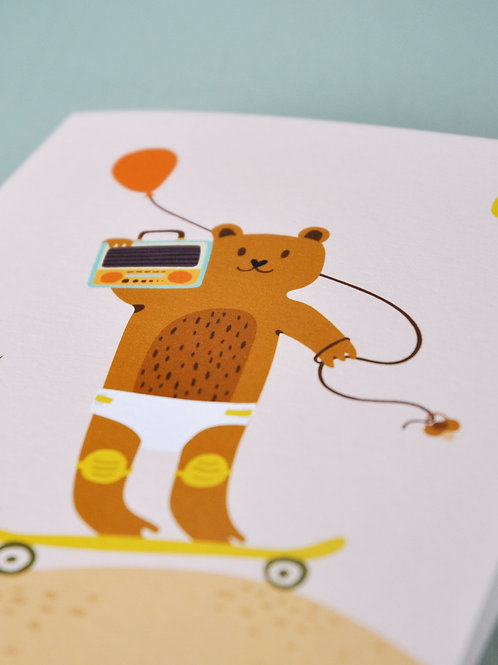 Lundi au Soleil• Carte de voeux enfant – Bientôt les 400 coups