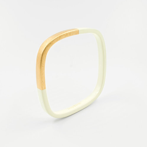 Pagil Blaja - Bracelet Trinity carré Ivoire / Dreamgold