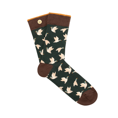 CABAIA CHAUSSETTES EVAN OLIVIA BIRDS GREEN