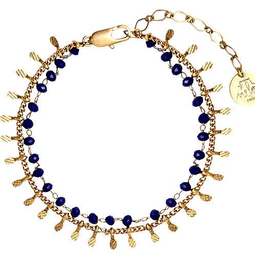 MME MELON- Bracelet Mapuche Bleu/Turquoise