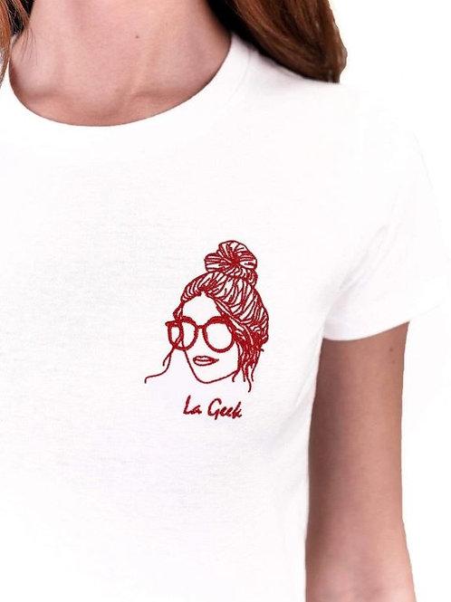 Edgard - Tee shirt La Geek blanc