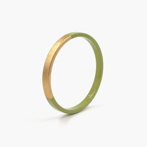 Pagil Blaja - Bracelet Trinity rond kaki / Dreamgold