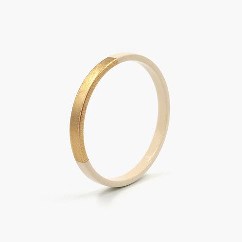 Pagil Blaja - Bracelet Trinity rond Beige Sable / Dreamgold