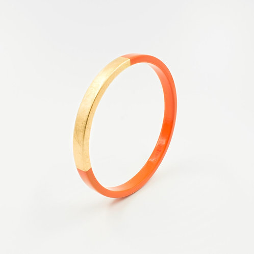 Pagil Blaja - Bracelet Trinity rond Tangerine / Dreamgold