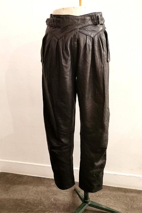 Maison linepo- Pantalon en cuir 80's