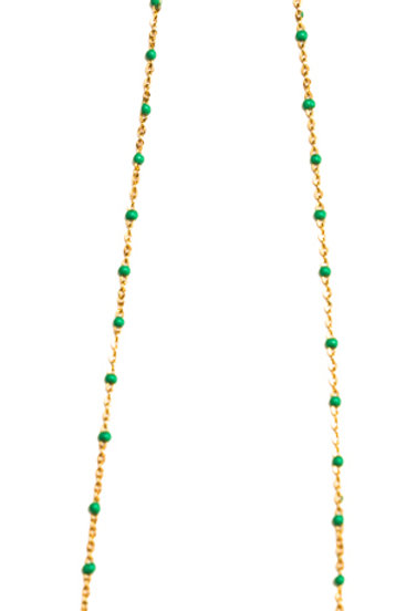 MME MELON- Collier Aylal Turquoise/ Corail/Bleu Klein