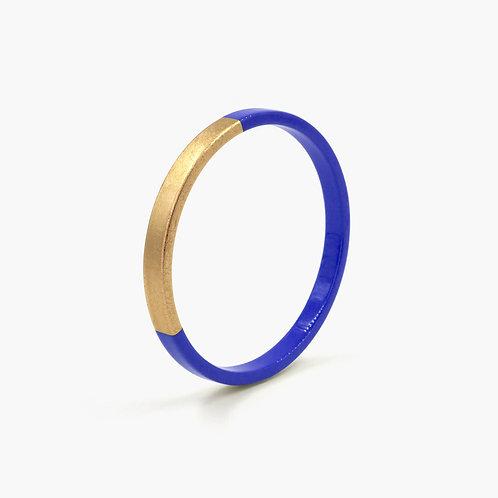 Pagil Blaja - Bracelet Trinity rond Cobalt bleu / Dreamgold