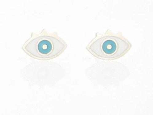 La tatoueuse- Boucles d'oreilles oeil or/argent
