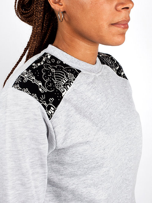 Tricote-moi un tattoo - Sweat Crimes et Chatiments Gris
