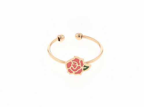 La tatoueuse- Bague rose rose