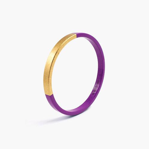 Pagil Blaja - Bracelet Trinity rond Prune/ Dreamgold