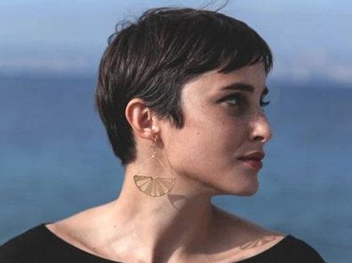 """Virginie Fantino-Boucles d'oreilles """"Cédrat"""" or/argent"""