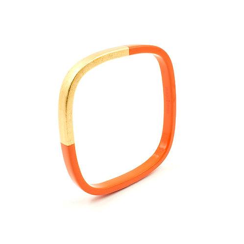 Pagil Blaja - Bracelet Trinity carré Tangrine / Dreamgold