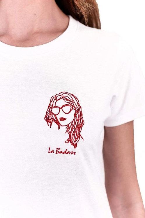 Edgard - Tee shirt La badass blanc