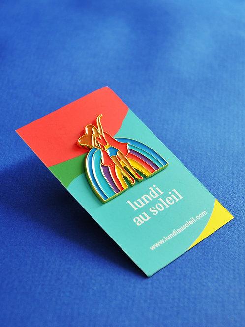 Lundi au Soleil• Pin's Rainbow girl
