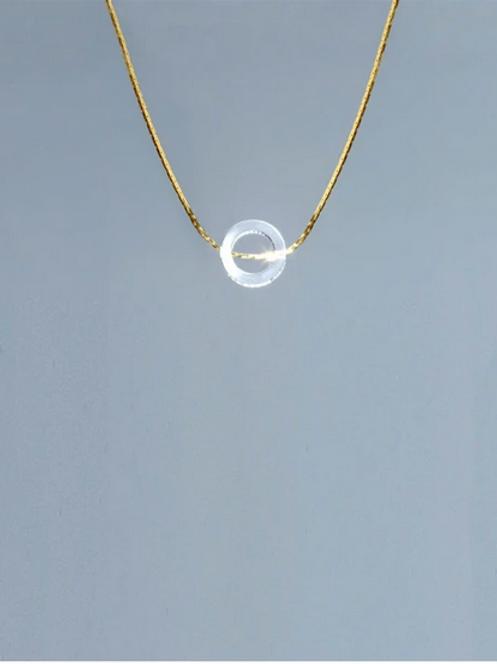 Helmut Paris- Collier Bo's noir/ transparent