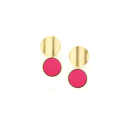 Barbarisme - Boucles d'oreilles Nymphe Fuschia- Flower