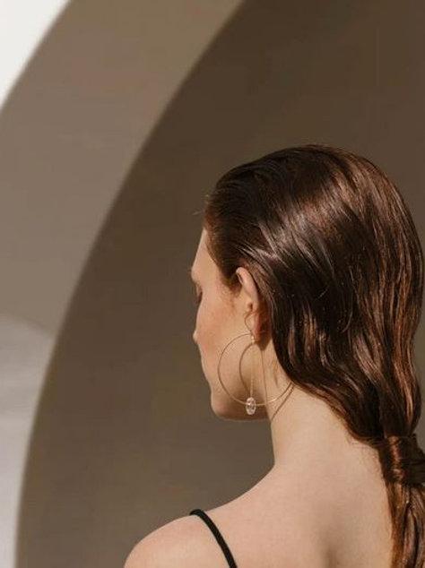 Helmut Paris- Boucles d'oreilles Leo's transparentes