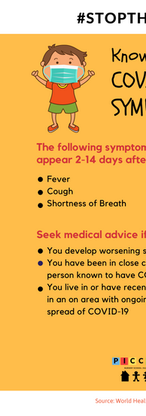 Our #StaySafe campaign poster on knowing the Covid-19 symptoms