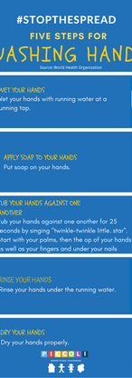 Our #StaySafe campaign poster on washing hands