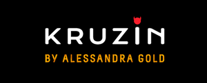 'KRUZIN by Alessandra Gold' logo on black background.