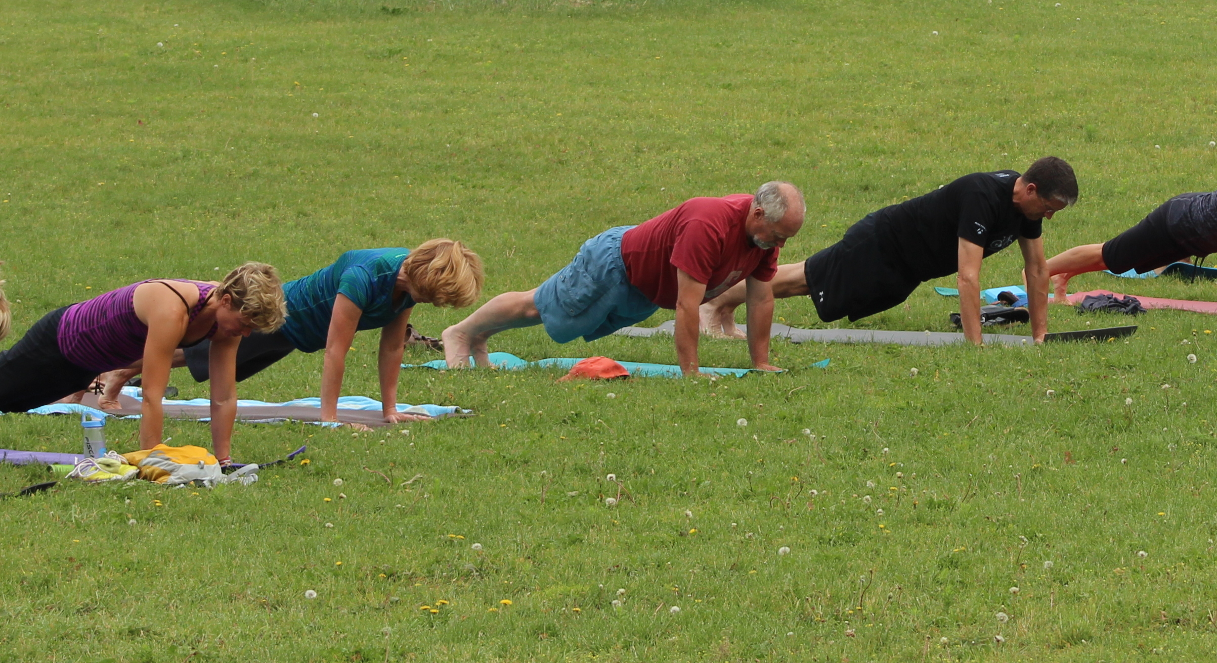 Yoga in the Park, July 2014