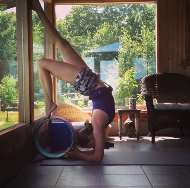Working with the Yoga Wheel