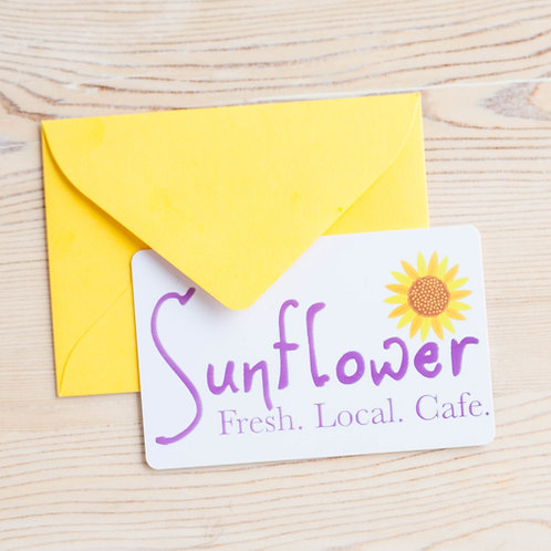 $25 Sunflower Cafe Gift Card (shipping $1.50)