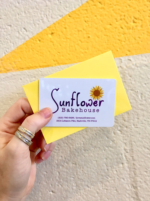 $50 Sunflower Bakehouse Gift Card