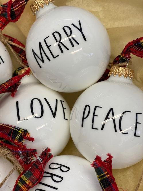 Affirmation Ornaments