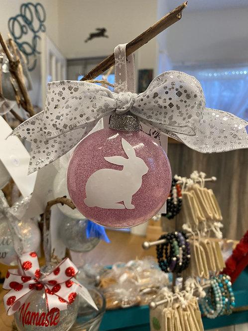 Pink Rabbit Ornament