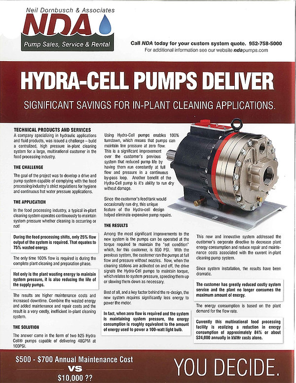 Wanner Hydra-Cell Pumps