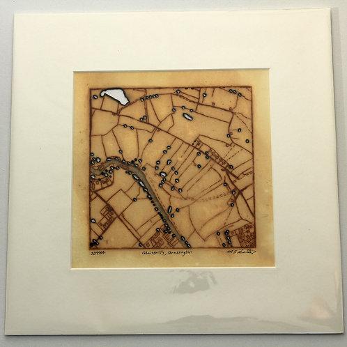 'Ghaistrill's, Grassington' small rust print