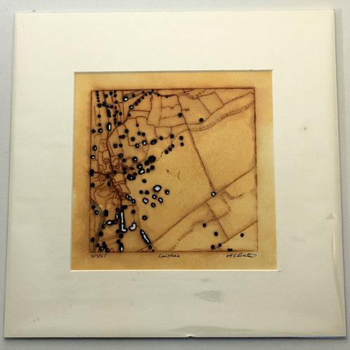 'Conistone' small rust print