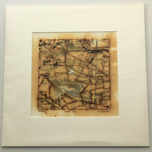 'Linton Camp' small rust print