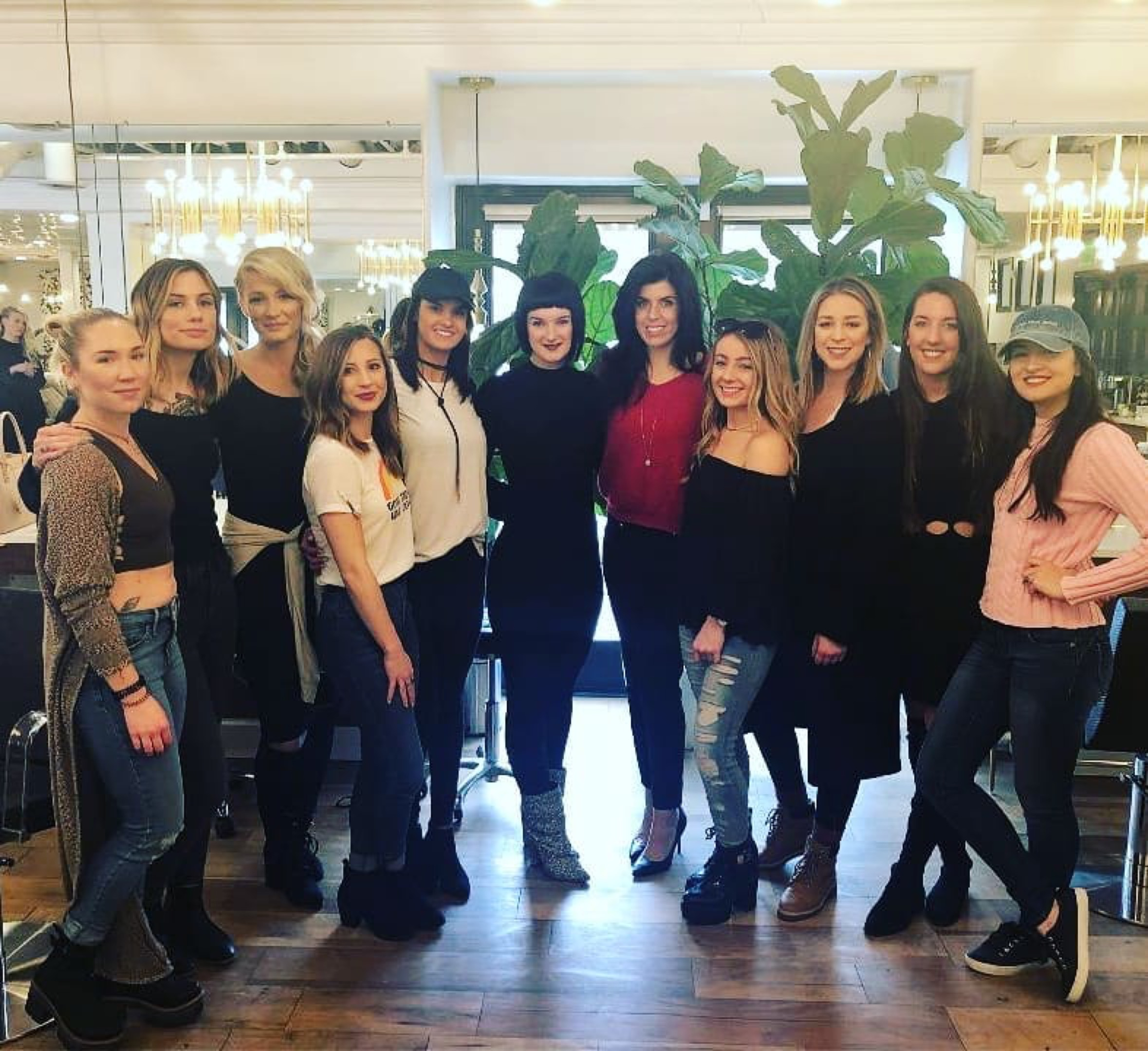 Teaching at Bradley Cooper Salon