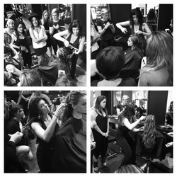 Teaching at Umbrella Salon