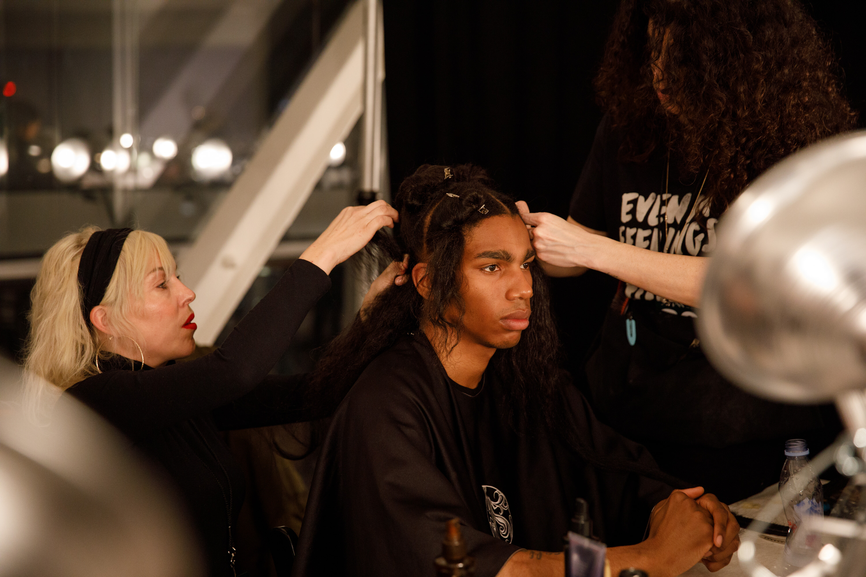 Braiding Behind The Scenes NYFW