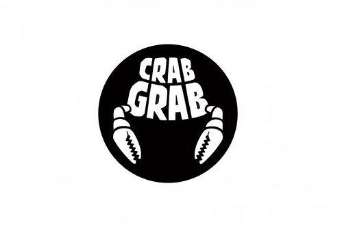 CRAB GRAB [ クラブグラブ ] LOGO ロゴ 丸形ステッカー M