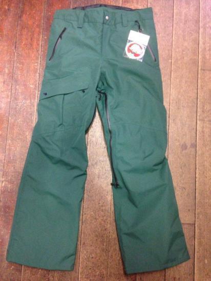 GREEN CLOTHING 15-16モデル【グリーンクロージング】MOVEMENT PANT (GREEN) ユニセックス ウェア スノーボード