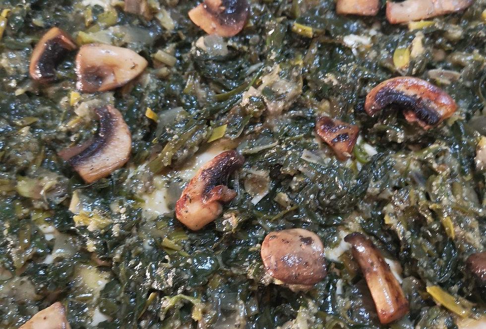 Σπανακόπιτα Μακεδονίας με Μανιτάρια Νηστίσιμη