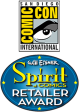Jesse James Comics Eisner Spirit Retailer Award Nominee 2011. 2012, 2014