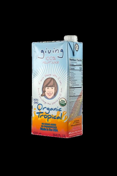 Giving Organic Tropical Juice