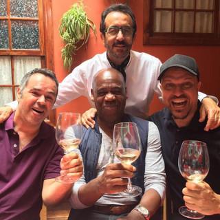 With artist Chago Melian and Producers Fernando Orti and Julio Tejera...we love Tenerife!