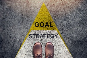 Strategy and Goal concept, Shoes stand o