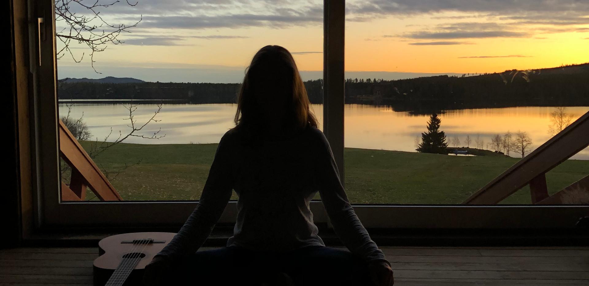 Meditasjon og avspenning på låven