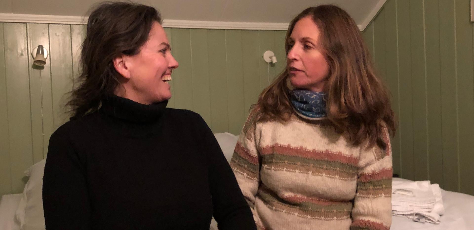 Anne Stine og meg på pensjonatet