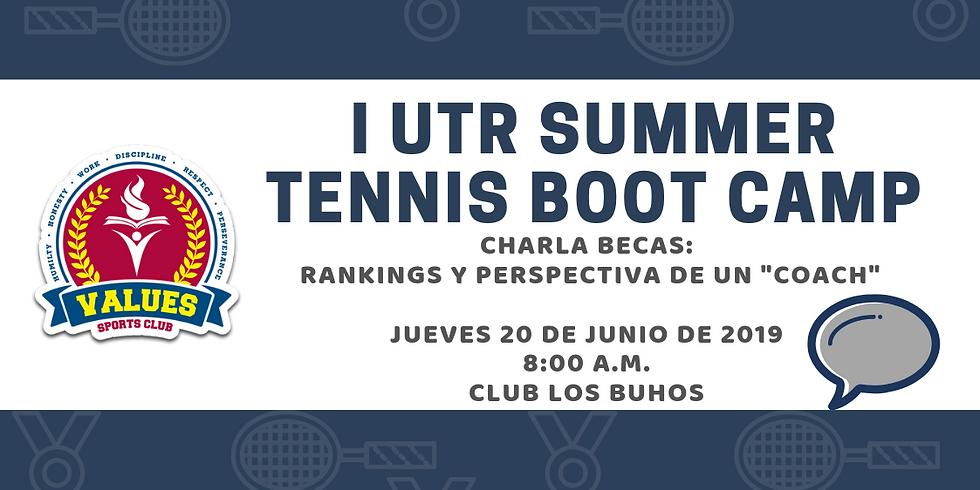 """💬Charlas Becas: Rankings y Perspectivas de un """"coach"""" universitario 🤓🎾"""