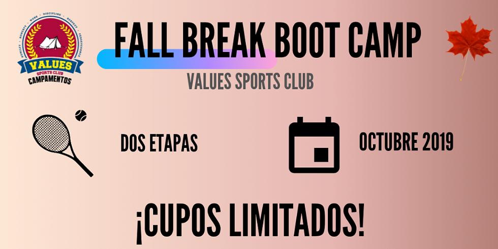 I UTR Fall Break Boot Camp